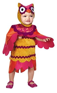 Disguise Babys Too Cute To Spook Hoot Costume RedYellow 2T