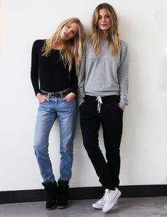 sweat-pants-comfy-look-denim-blouse-converse