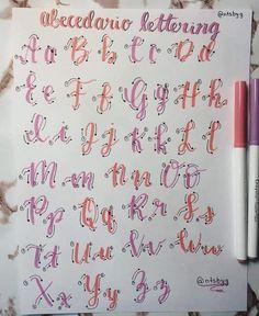 Lettering Guide, Bullet Journal Lettering Ideas, Bullet Journal Banner, Journal Fonts, Bullet Journal Notes, Hand Lettering Tutorial, Hand Lettering Alphabet, Bullet Journal Writing, Doodle Lettering