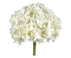 Bouquet artificiale Ortensia Royal bianco - h 61 cm