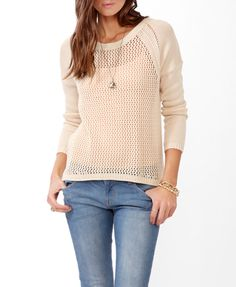 Net Front High-Low Sweater   FOREVER21 - 2040494832