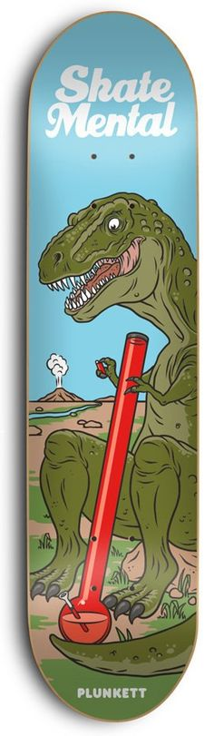Skate Mental Plunkett T-Rex 8.25 Skateboard Deck - Free Shipping