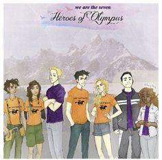 The seven Percy  Annabeth  Hazel  Frank  Jason ⚡ Piper  Leo