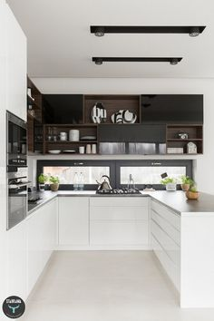 Jasna kuchnia, beton, drewno