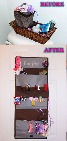 thirty one ideas | thirty one ideas / Eliminated the clutter of the hair bows everywhere ...