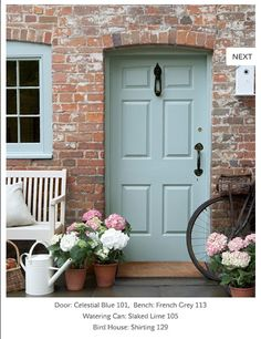 Celestial Blue by LittleGreene. My fave colour for outdoors at the moment. Will paint mu shed and garden furniture that colour. Love it!
