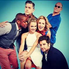 Cast of Psych - I would kill to spend a day with these people!
