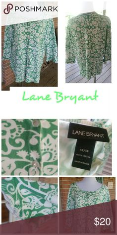 Lane Bryant 3/4 length sleeves sweater! So comfy! Cute little size 14-16 from Lane Bryant. See pics for details and material info Lane Bryant Sweaters