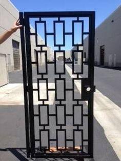 Contemporary gate,Modern Metal Gate , Custom Art Pedestrian Walk Thru Entry Iron Steel Garden Design
