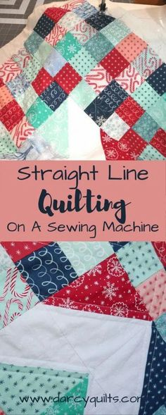Straight Line Quilting Tutorial #howtoquilt #quiltingtutorial Free Motion Quilting, Quilting Tips, Quilting Tutorials, Machine Quilting, Quilting Projects, Sewing Tutorials, Easy Quilt Patterns, Sewing Patterns Free, Free Sewing