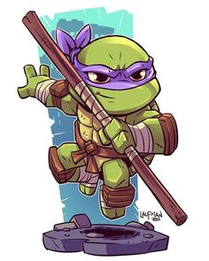 My favorite turtle, Donatello! Cartoon Cartoon, Cartoon Kunst, Comic Kunst, Cartoon Characters, Comic Art, Teenage Mutant Ninja Turtles, Teenage Ninja, Teenage Turtles, Character Drawing