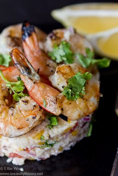 Barbequed Chili & Garlic Prawns with Couscous Salad by kitchenwench #Shrimp #Chlli Garlic #Couscous