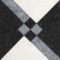 Granny's Choice Quilt Block - directions for One 12 inch block. Quilting Tutorials, Quilting Projects, Quilting Designs, Pattern Blocks, Quilt Patterns, Quilt Block Patterns 12 Inch, Black And White Quilts, Black White, Coin Couture