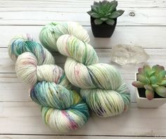 Sea Glass Sparkle Hand Dyed Yarn 70/25/5% Superwash Merino Nylon Stellina sock knitting wool crochet hand dyed Texas Indie dyer Unicorn Base by ByTheBayYarnCo on Etsy