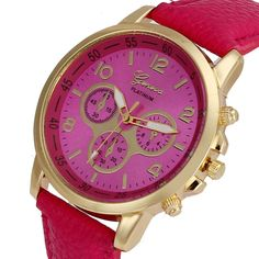 Hot New Relojes Geneva Fashion Leather Watch Analog Quartz Women Men dress women watches brand luxury wrist watch, 9 Colors
