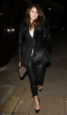 Gemma Arterton + leather trousers
