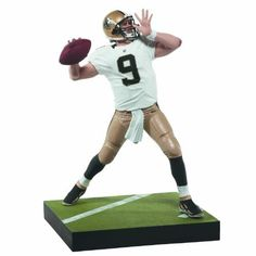"McFarlane Toys NFL Series 31: Drew Brees Action Figure by McFarlane Toys. Save 10 Off!. $11.75. Figures stand approximately 6"" tall. Jersey color may vary as classic chase collector level drew brees will be offered in the saints all black jersey. New Orleans saints QB drew brees is back with an all new sculpt. Figure is featured in white new orleans saints jersey. From the Manufacturer                NFL 31, the third and final series of 2012, features last season's NFL Offensive..."