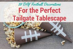 20 DIY Football Decorations for the Perfect Tailgate Tablescape