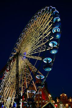 The Xmas wheel, Christmas market in Lille, France