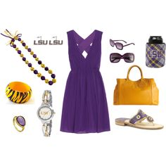 """LSU Tigers Gameday Outfit"""