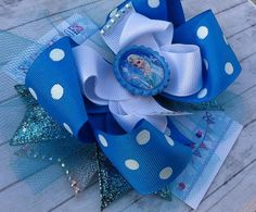 FROZEN ELSA BOW - Frozen Birthday - Elsa Bow - Frozen Bow - Over the Top Bow - Frozen party - Girls Hair Bows - Toddler, Infant, Big girls