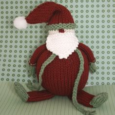 Knit a Santa's Helper for yourself! The PDF pattern is just $4.75