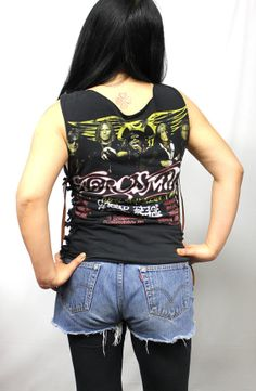 Customized Aerosmith Used Tour Tee by Julia by OneLovePasadena, $49.99