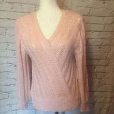 Vintage Christine Phillipe Pink Sweater With Shoulder Pads And Angora Stripes   | eBay Sequin Sweater, Pink Sweater, Sweater Cardigan, Vintage Sportswear, White C, Angora Sweater, Selling On Ebay, Shoulder Pads, Black Sweaters
