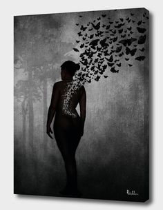 8f2fcbc1161 «The Butterfly Transformation» Canvas Print by Nicklas Gustafsson -  Numbered Edition from  59