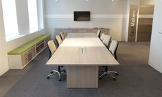DeskMakers' Conference Collection offers an unparalleled variety of table designs, edge options, and bases.  Our conference furniture is available in all 18 DeskMakers thermofuse laminate finishes, as well as HPL and wood veneer.