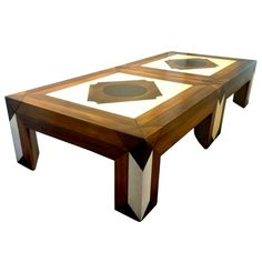 1stdibs | Wonderful rare  pair of Coffee/Cocktail Tables by Phyllis Morris from  1968