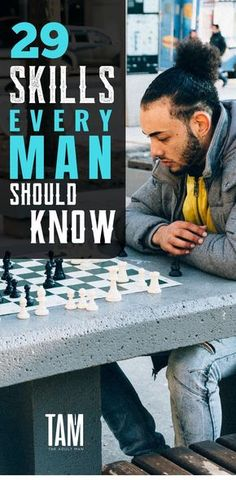 29 Skills Every Man Should Know. There are certain skills which elevate your overall attractiveness as a man. Discover the 29 skills every man should know before his Birthday. Men Tips, Men Style Tips, Self Development, Personal Development, Life Skills, Life Lessons, Hobbies For Men, Fun Hobbies, Art Of Manliness