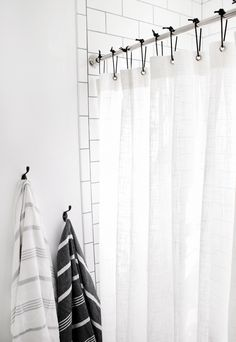 DIY Leather Shower Curtain Rings Themerrythought White Diy