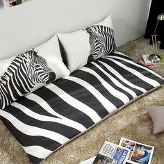 $355 Zebra seat cushion