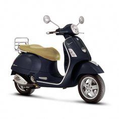 vespa gts 250 ie, my baby, dark blue w/ tan seat.