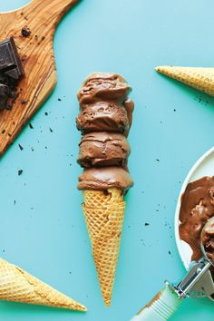 We simply love this Vegan Chocolate Ice Cream recipe. Each scoop of this dark chocolate-infused treat is extra creamy, extra rich, extra delicious!