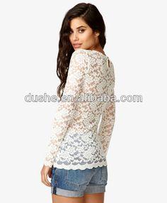 blusas de manga larga de encaje - Buscar con Google