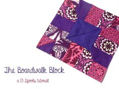 The Boardwalk Block is an absolute gift for quilters! This scrappy quilt pattern can use just about any type of fabric - jelly rolls, charm packs, yardage ... if you've got it, you can make this quilt block pattern.
