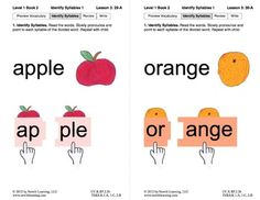 Identify Syllables 1: Lesson 3, Book 2 (Newitt Prereading Series)