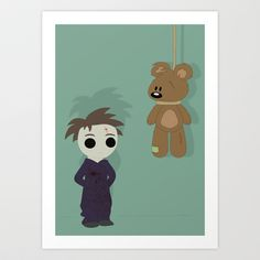Little Michael  Art Print by The Ghost and Robot - $17.00