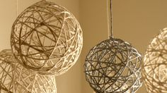 diy twine ornaments for christmas | DIY Christmas String Ornaments and Lanterns - YouTube