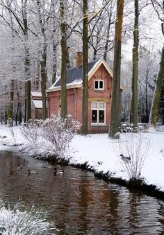 Peaceful winter scene.