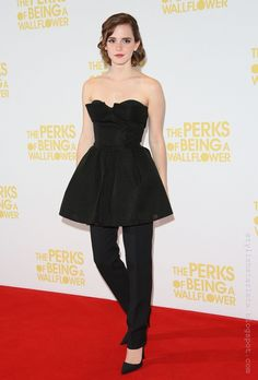 Stylish Starlets: Trendy or Tacky: Emma Watson's Dress with Pants?
