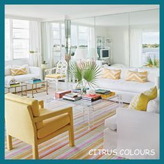 5 Super Quick Ways to Bring Spring Into Your Home - Tip 1 - Citrus Colours - Click on the link to read all about the 5 super quick (and inexpensive) ways that you can bring spring into your home!