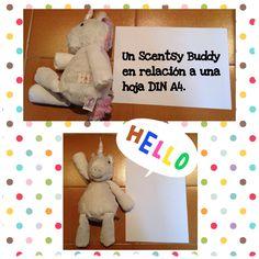 Este es el tamaño de un Scentsy Buddy. #stellatheunicorn #scentsybuddy #quebienhuelealv