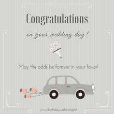 Congratulations On Your Wedding Day May The Odds Be Forever In Favor