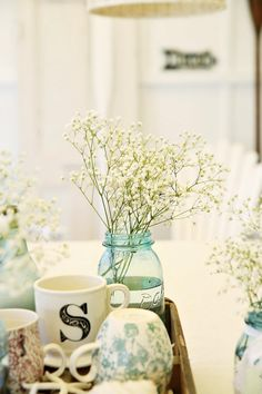 beach side cottage decor | Beach Cottage Beachy Coastal Table Decor and a well-rounded tart