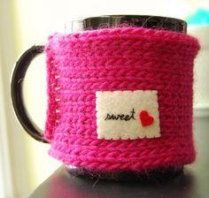 Sweet Heart Mug Cozy
