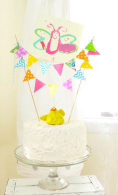 "Fabric Cake Bunting ""Carnival"" by bluebirdandviolet on Etsy"