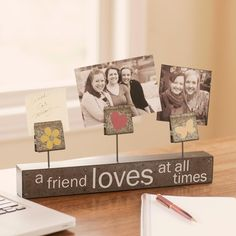 Urban Soul - A Friend Loves at All Times - Charcoal Photo Holder